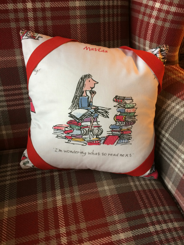 Roald Dahl Matilda Book Cushion