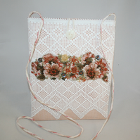 Vintage lace embroidered bag