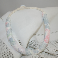 Textile Rope Necklace from recycled fabric