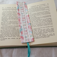 Bookmark - vintage drawn thread work