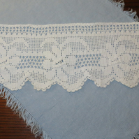Flowers  Lace edging- vintage crochet