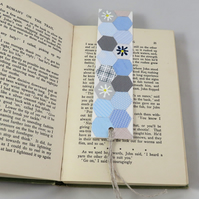 Recycled Envelope Patchwork Bookmark