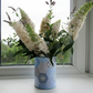 Vase or Storage pot - recycled and decorated with recycled envelope patchwork