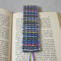 Felted and Embroidered Bookmark - woven design