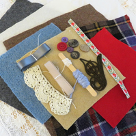 Tweed Inspiration pack including squares from hand felted knitwear