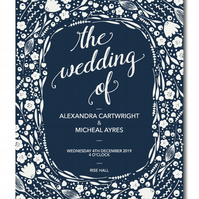 50 Foilage Wedding Invitations