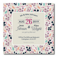 50 Floral 'Maude' Wedding Invitations
