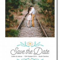 25 A Simple Vintage Personalised Save the Date Cards