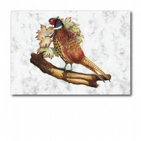 A5 Animal British Bird Wildlife Pheasant Greetings Birthday Card (F261)
