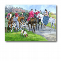 Birthday Card - The Hunt, from a painting by Royden Price (F243)
