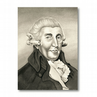 A5 Classical Music Birthday Card - Haydn (F310)