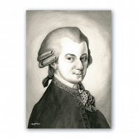A5 Classical Music Mother's Day Card - Mozart (F314)