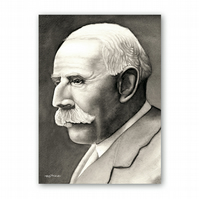 A5 Classical Music Birthday Card - Elgar (F316)