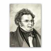 A5 Classical Music Birthday Card - Schubert (F319)