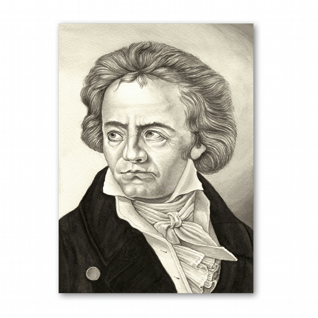 A5 Classical Music Mother's Day Card - Beethoven (F326)