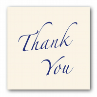 Thank You Card on Sparkly Cream Board (F331)