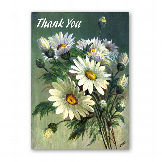 A5 Thank You Card - Marguerites from a painting by Florrie Price (F333)