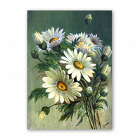 A5 Mother's Day Card - Marguerites from a painting by Florrie Price (F335)