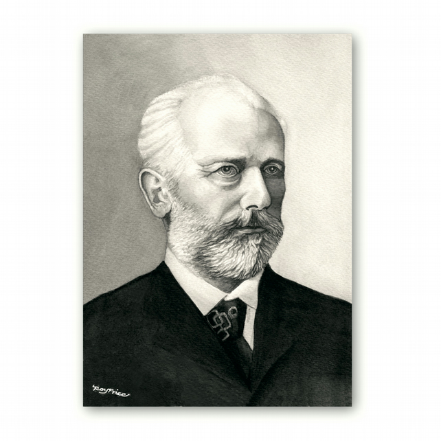 A5 Classical Music Birthday Card Tchaikovsky (F328)