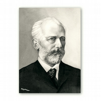 A5 Classical Music Father's Day Card - Tchaikovsky (F330)