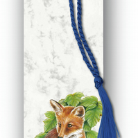 Animal British Wildlife Fox Bookmark on Marble board (F354)