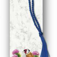 Animal British Bird Wildlife Goldfinch Bookmark on Marble board (F355)