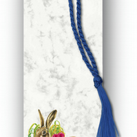 Animal British Wildlife Hare Bookmark on Marble board (F356)