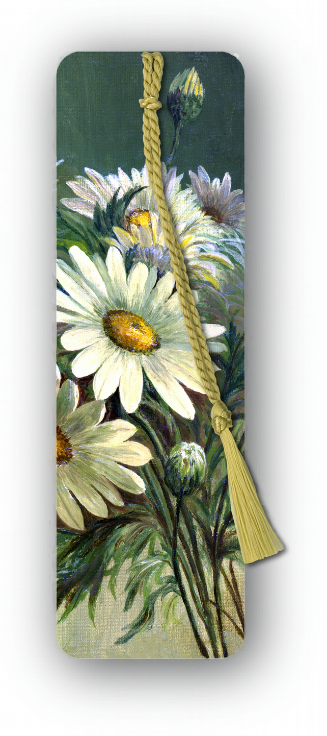 Flowers - Marguerites Bookmark from a painting by Florrie Price (F456)