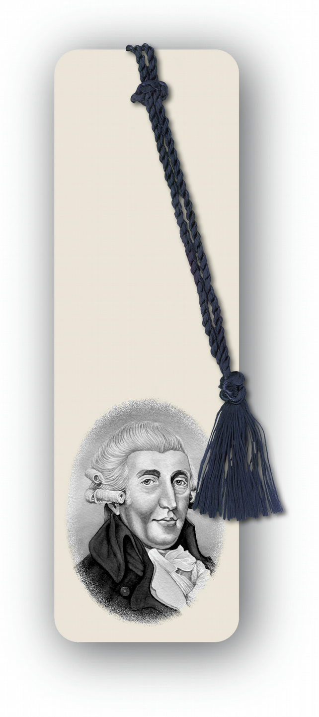 Classical Music Haydn Bookmark from a line & wash drawing by Royden Price (F459)