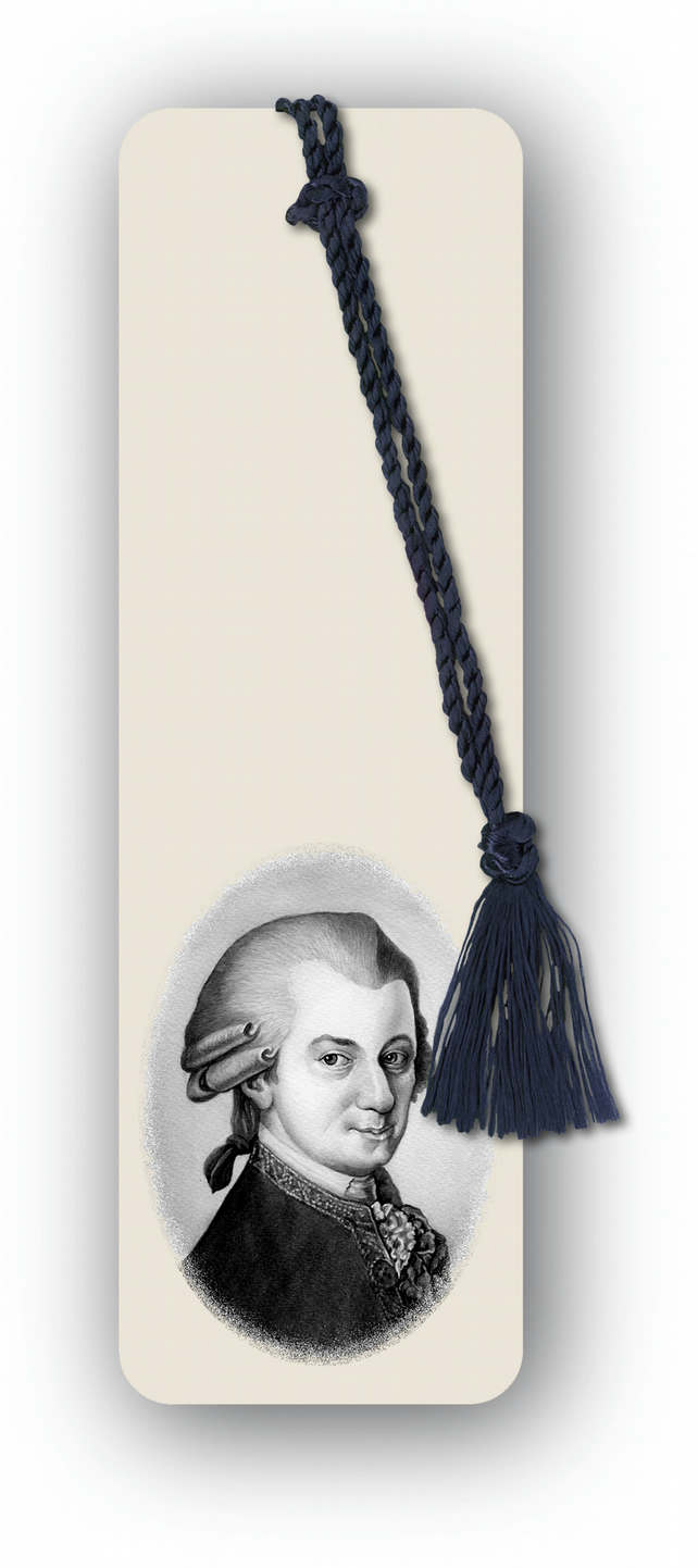 Classical Music Mozart Bookmark from a drawing by Royden Price (F460)