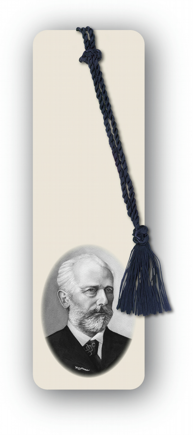 Classical Music Tchaikovsky Bookmark from a drawing by Royden Price (F463)