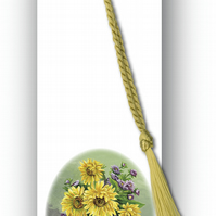 Sunflowers Bookmark from a painting by Royden Price (F466)