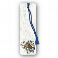 Animal British Bird Wildlife Wren Bookmark on Marble board (F448)