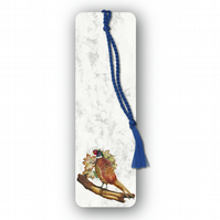 Animal British Bird Wildlife Pheasant Bookmark on Marble board (F449)