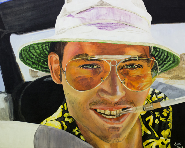 Fear And Loathing Original Painting Folksy