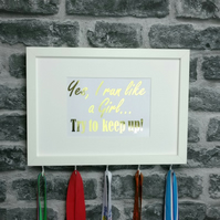 Medal Hanger - Yes I Run Like A Girl, Try To Keep Up
