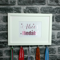 Personalised Medal Hanger Display