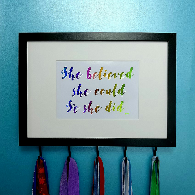 Medal Hanger - She Believed She Could So She Did