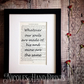 Gift Boxed Wuthering Heights Print - Romantic Gifts For Her - Love Print For Him