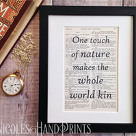 Nature Quotes - Gifts for Nature Lovers - Book Page Prints - Vintage Art Prints