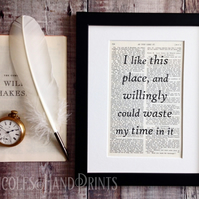 Book Page Quote Print - Maker Gifts - New Home Gift - Housewarming Present