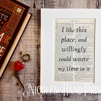 I like this place quote - Gifts for Makers - New Home Gifts - Housewarming Gifts