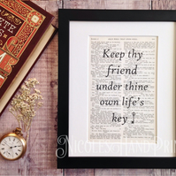 Beautiful Quotes on Friendship - Christmas Gift Ideas - Thoughtful Gifts - Art