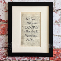 A Room Without Books - Cicero Quote - Latin Quotes Wall Art - Book Lover Gifts