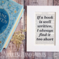 Beautiful Book Page Quote Print - Bookish Gift for Women - Xmas Gifts For Her
