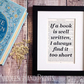 Beautiful Book Page Quote Print - Bookish Gift for Girls - Xmas Gifts For Her