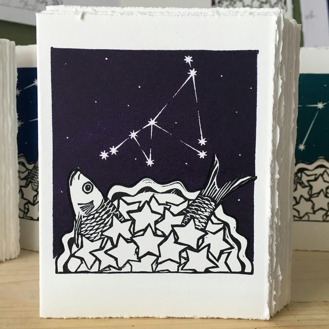 Stargazey Skies - Capricorn Zodiac Birthday Card (December 22-January 19)