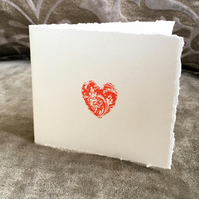 Anniversary or Engagement Card - Letterpress 'Token of Love'