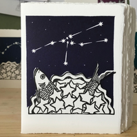 StarGazey Skies - Taurus Zodiac Birthday Card (April 20-May 20)