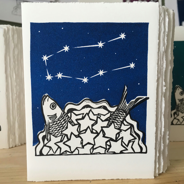 StarGazey Skies - Gemini Zodiac Birthday Card (May 21-June 20)